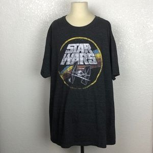 Star Wars - Gray Heathered Graphic T-shirt (Large)